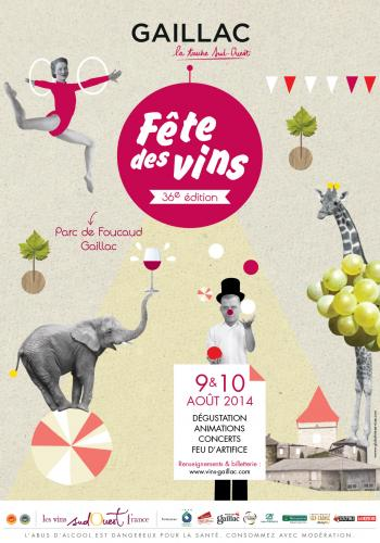Affiche fête des vins Gaillac 2014