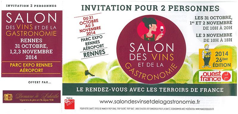 Domaine de labarthe blog vin gaillac salon des vins et for Salon des vins et de la gastronomie