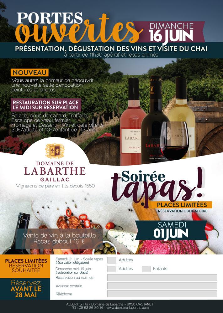 Portes Ouvertes Domaine de Labarthe 2019 Vin Gaillac
